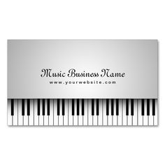 21k best music business card templates images on pinterest beautiful white grand piano music business card make your own business card with this great fbccfo Gallery