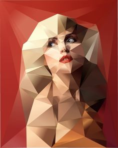 Johnathan Puckey's Geometric Portraits, create using a custom software coded by the artist himself!