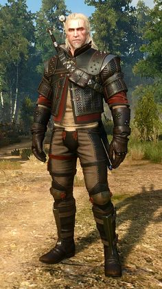 Wolf armor set Witcher 3 love the design the maille between leather strips flexibility and cut resistant
