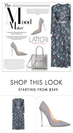 """LATTORI dress"" by water-polo ❤ liked on Polyvore featuring Lattori, Jimmy Choo, Rebecca Minkoff and Envi"
