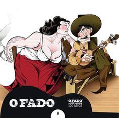 """2012 O Fado de José Malhoa 100 Anos 6 [Tugaland/A Bela e o Monstro] ilustração: Vasco Gargalo """"O que não foi dito. O que não foi pronunciado"""" #albumcover #illustration #fado #music"""
