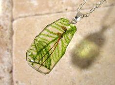 Moss Rhytidiadelphus loreus Necklace woodland jewellery by Chaerea