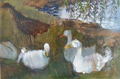 Pond Ducks.  oil. Felicity House  www.felicityhouse.eu