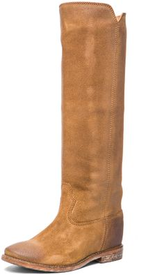 Isabel Marant Cleave Calfskin Velvet Leather Boots in Camel. Omg these are gorgeous
