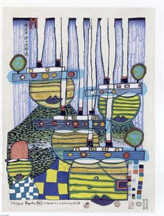 Friedensreich Hundertwasser: Pacific Steamer (1985) #painting