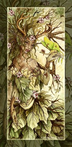 I dreamt I met an Earth Elemental. She had bark for skin and ivy for hair. I've never seen a more beautiful being... -E-