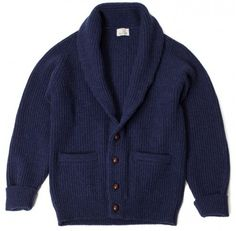 The Armoury Lambswool Shawl Collar Cardigan