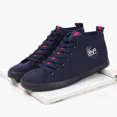 High-Cut Canvas Sneaker With Unique Webbing