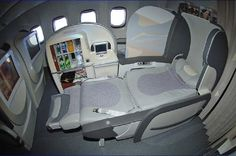 Fly With Style - First Class Travel - Emirates... Ahhhh if only... Flying First Class, First Class Seats, Jet Airlines, Private Jet Interior, First Class Flights, Aircraft Interiors, By Plane, Boeing 777, Business Class