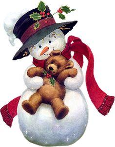 Ruth Morehead Christmas | Lindos Bonecos de Neve | Imagens para Decoupage