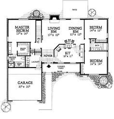 Home Plans HOMEPW14801 - 2,076 Square Feet, 3 Bedroom 2 Bathroom Country Home with 2 Garage Bays