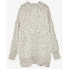 JERSEY OVERSIZE - Ver Todo-PUNTO-MUJER-COLECCIÓN SS/17 | ZARA España (400 SEK) ❤ liked on Polyvore featuring tops, oversized sweaters, white top, white sweater, oversized white top and oversized tops