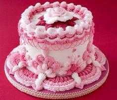 Glasé real. Royal icing. Cake. Método Lambeth royal icing. Cenefas de glasé real. Rosas. Rosa María Escribano