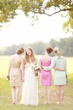one fab day | bridesmaids | pastel dresses | bridal party photography | wedding inspiration