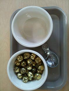 Christmas tray tasking - spooning small bells