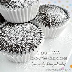 Weight Watchers: 2 point dessert brownie cupcake @cleverlyinspired (6)