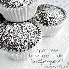 Weight Watchers: 2 point dessert brownie cupcake @cleverlyinspired (6)