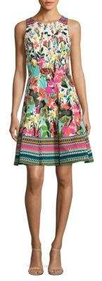 Maggy London Floral Fit-and-Flare Dress
