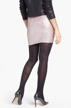 Pretty Polly Embellished Back Seam Tights from Nordstrom on shop.CatalogSpree.com, your personal digital mall.