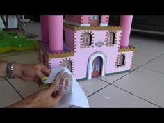 como fazer castelinho de princesa - YouTube