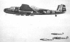 Four Japanese Navy Type 96 planes (Mitsubishi G3M).