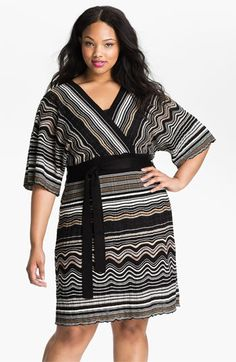Eliza J Dolman Sleeve Sweater Dress (Plus) | Nordstrom - shape, yes; pattern, no