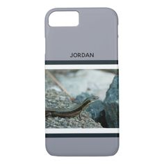 Monogram Skink on a Rock iPhone 8/7 Case Custom Brandable Electronics Gifts for your buniness #electronics #logo #brand
