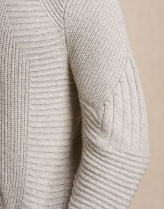 Panelled Jumper with subtle texture contrasts; contemporary knitwear details // Belstaff