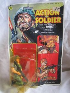 Vintage Action Soldier Army Toy on Card Made in Hong Kong 1970's Toy | eBay