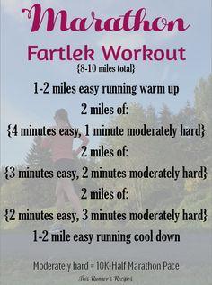 Marathon Fartlek Workout
