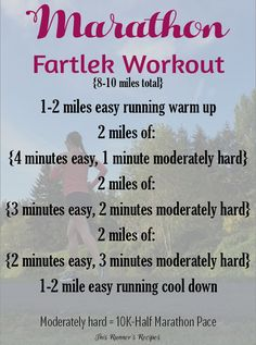 Marathon Fartlek Workout