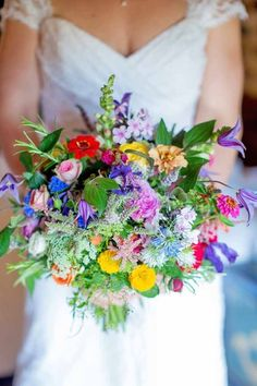 Wildflower Wedding Bouquets Not Just For The Country Wedding ❤️ See more: http://www.weddingforward.com/wildflower-wedding-bouquets/ #weddings #weddingbouquets