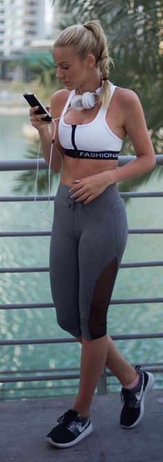 Fitted And Trendy Workout Style