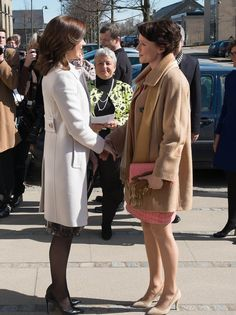 Crown Princess Mary of Denmark and Jenni Haukio, Lady of Finland April 2013 Royal Family History, Prince Frederick, Queen Margrethe Ii, Danish Royal Family, Danish Royals, Mary Elizabeth, Crown Princess Mary, Great Women, Classic Chic