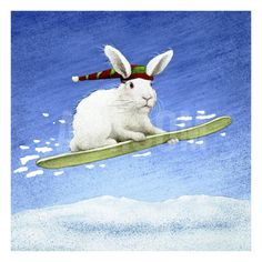 Snow Bunny Giclee Print by Will Bullas at Art.com