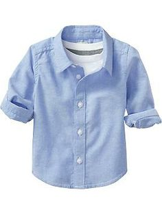 Long-Sleeve Oxford Shirts for Baby | Old Navy