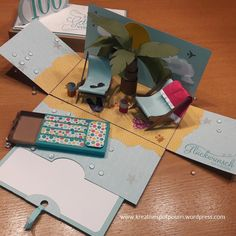 50 + 50 = 100 - Easy Crafts for All 3d Cards, Pop Up Cards, Cute Crafts, Easy Crafts, Card In A Box, Exploding Box Card, Up Book, Crafts For Girls, Diy Gifts