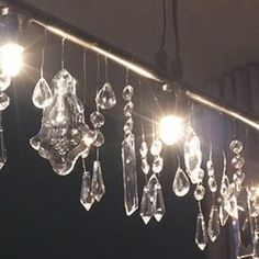 How To Make A DWR Cellula Crystal Chandelier Knockoff - Crystal chandelier ikea
