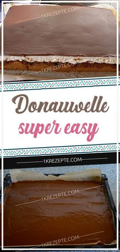Donauwelle - super easy - Page 2 of 2 Pudding Desserts, Easy Desserts, Apple Pop, Cake Board, How To Make Cake, Nutella, Super Easy, Cake Recipes, Easy Meals