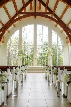 Elegant altar at Ashton Gardens. Wedding by DFW Events. Photo by Celina Gomez Photography. #wedding #altar #white