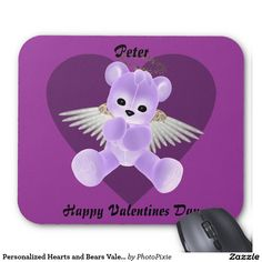 Personalized Hearts and Bears Valentine