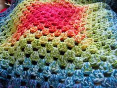 Control with variegation! colour in a simple life: Graduated Granny Blanket