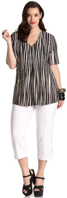 RESORT V TOP - Short Sleeved - My Size, Plus Sized Women's Fashion & Clothing