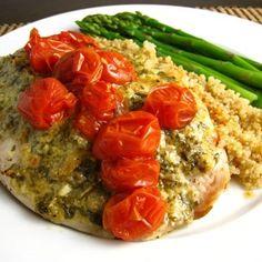 Tilapia with Pesto & Roasted Tomatoes Recipe - ZipList