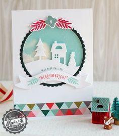 Merry & Bright Shaker Card by Betsy Veldman for Papertrey Ink (September 2014)