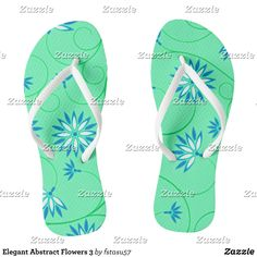 Elegant Abstract Flowers 3 Flip Flops - Durable Thong Style Hawaiian Beach Sandals By Talented Fashion & Graphic Designers - #sandals #flipflops #hawaii #beach #hawaiian #footwear #mensfashion #apparel #shopping #bargain #sale #outfit #stylish #cool #graphicdesign #trendy #fashion #design #fashiondesign #designer #fashiondesigner #style