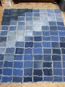 love the shaded denims gradient - Memories By Anna Dawn: Jean Quilts - New and Improved!