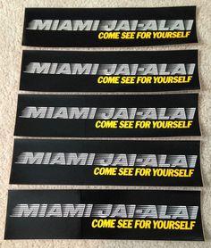 5 Early 1980's Miami Jai Alai Vintage Bumper Stickers NM Mint Condition | eBay