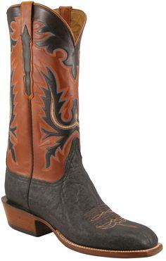 Lucchese Classics L1353 Mens Black Elephant Ranch Boot