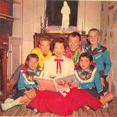Christmas 1958 with the Roy Rogers family